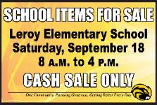 Leroy Elementary Garage Sale