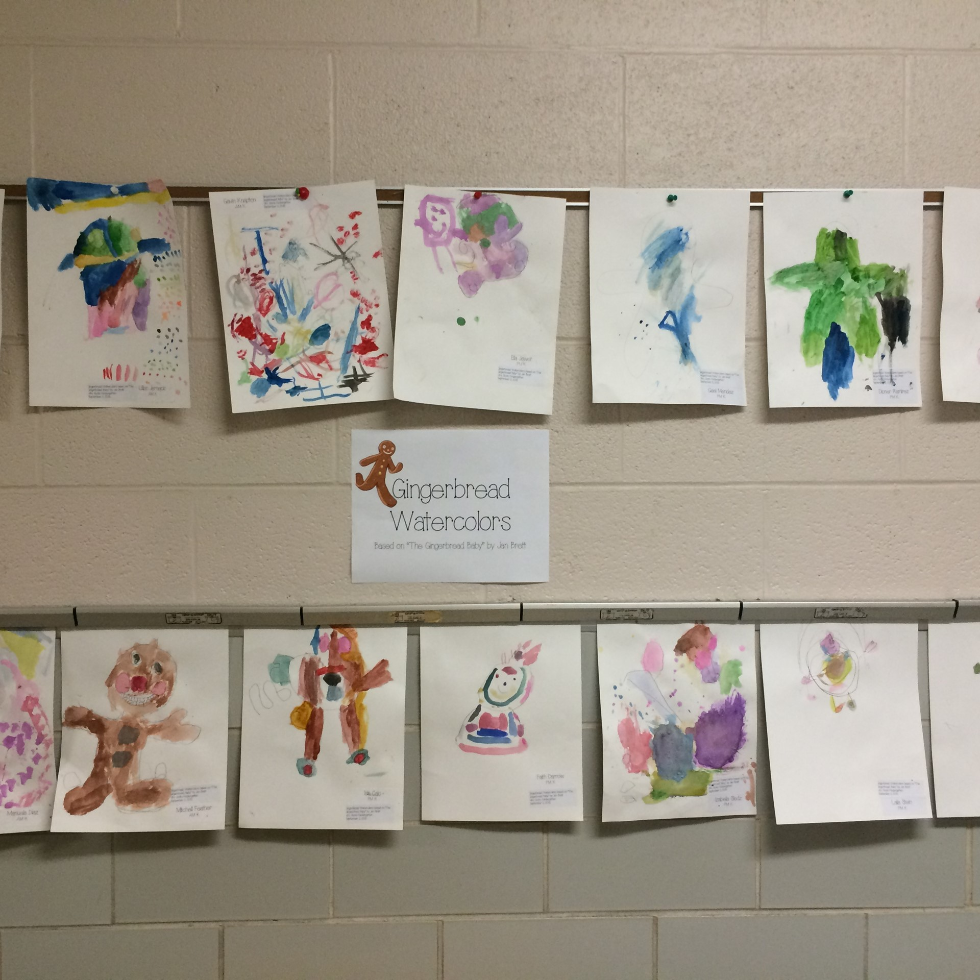 Student Work lines the halls!