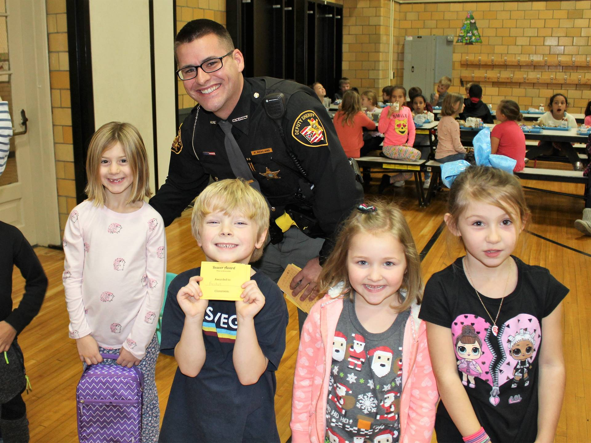 Deputy Rowland came for lunch!